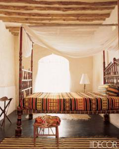 Swahili style bed